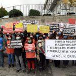 Gençlik Örgütleri Direnen Sinbo İşçilerinin Yanında
