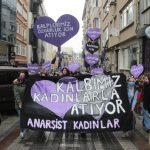 Anarşist Kadınlar 8 Mart'ta Sokaklardaydı:  Kalplerimiz Özgürlük İçin Atıyor!