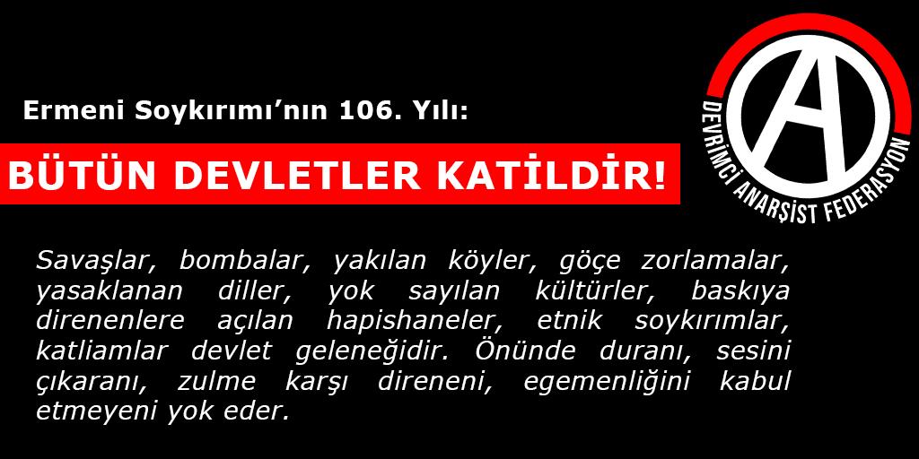 Ermeni Soykırımı'nın 106. Yılı: Bütün Devletler Katildir!
