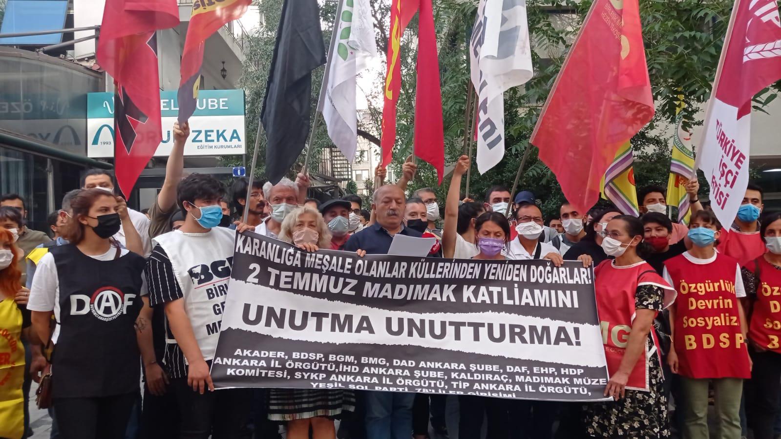Madımak Katliamı'nın 28.Yılında Ankara:  Unutmak Yok, Affetmek Yok!