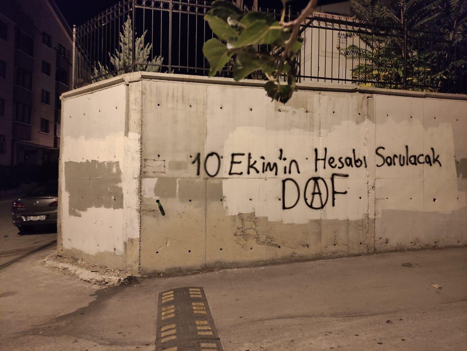 Ankara'da 10 Ekim Yazılamaları: 10 Ekim'in Hesabı Sorulacak!
