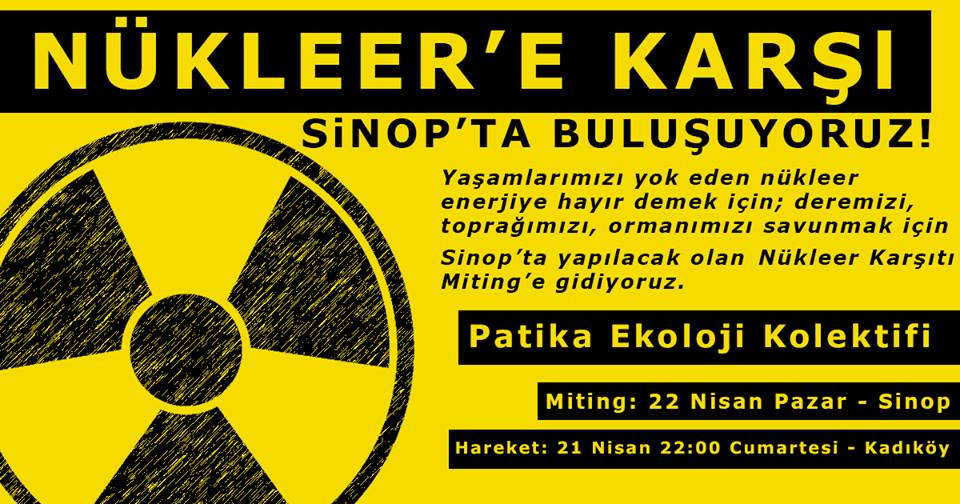 Nükleer Santrallere Karşı Sinop'a Miting'e Gidiyoruz.